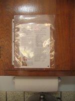 廚櫃門上的透明活頁袋